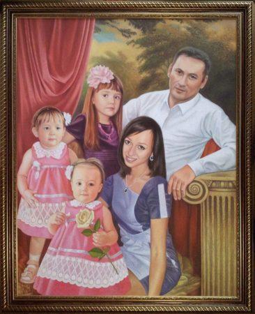 Семейный портрет маслом в Новокузнецке — правильная традиция…