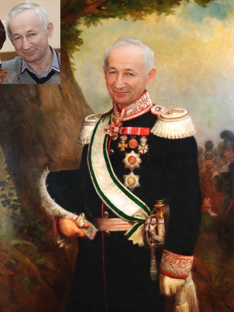 Где заказать исторический портрет по фото на холсте в Новокузнецке?