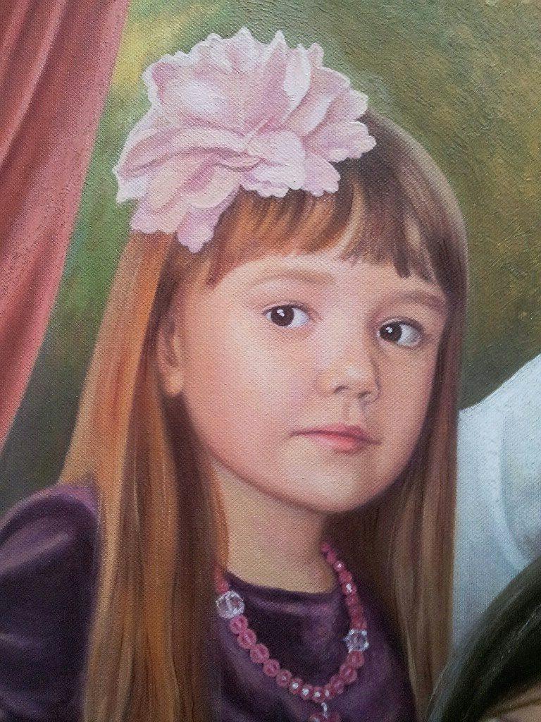 Семейный портрет на холсте Новокузнецк