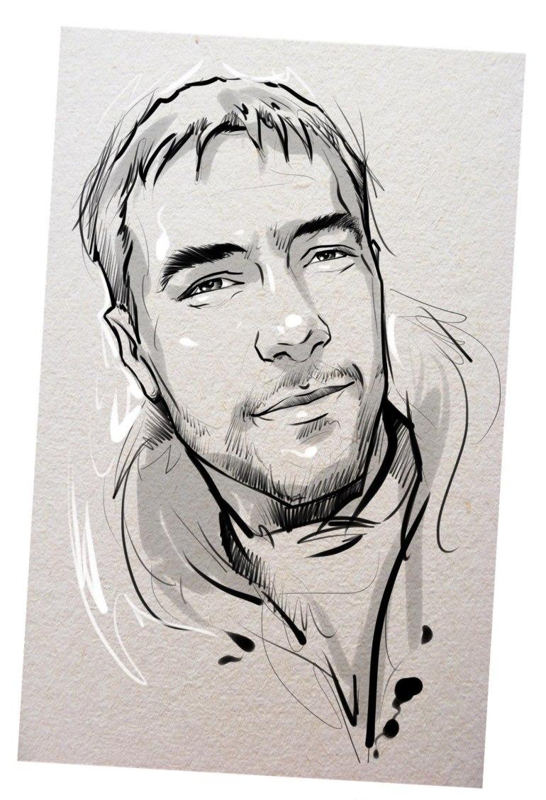 Портрет карандашом любимому мужу в Новокузнецке…