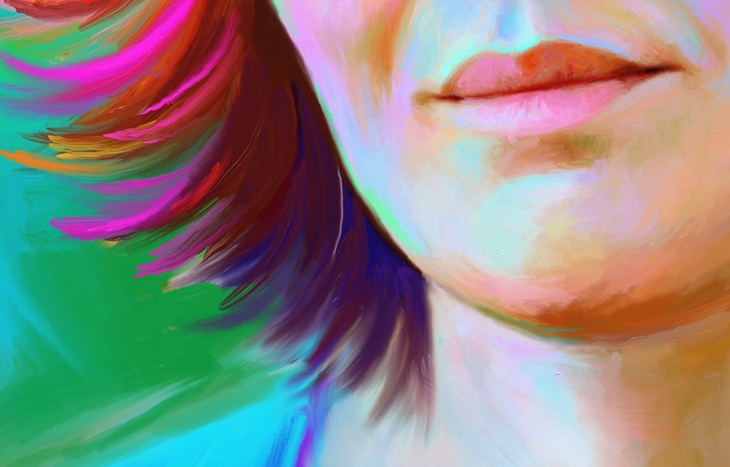портрет в стиле art brush
