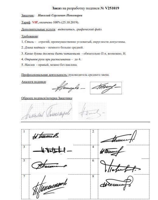 Разработка личной подписи онлайн Новокузнецк