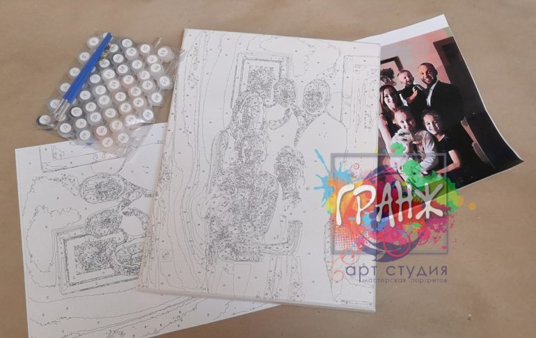 Картина по номерам по фото, портреты на холсте и дереве в Новокузнецке